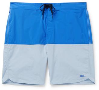 Vans Pilgrim Surf Supply Long-Length Color-Block Swim Shorts - Men - Blue
