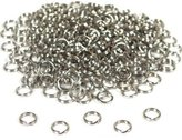 FindingKing 288 Nickel Plated Split Ring Chain Parts Findings 6mm