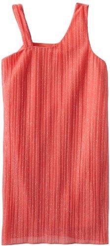 Ruby Rox Big Girls' Crinkle Glam Faux One-Shoulder Dress