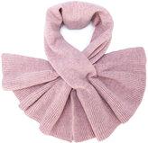 Paule Ka frill-trim knitted scarf