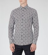 Reiss Merci Geometric Print Shirt