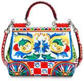 Dolce & Gabbana Sicily Small Maiolica-Print Satchel Bag, Multi