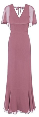 Dorothy Perkins Womens Chi Chi London Mink Chiffon Maxi Dress