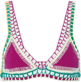 Kiini Coco Crochet-trimmed Triangle Bikini Top - medium