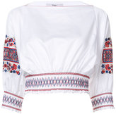 Tibi floral embroidery blouse - women - Cotton - S