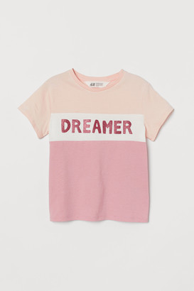 H&M Glitter-print T-shirt