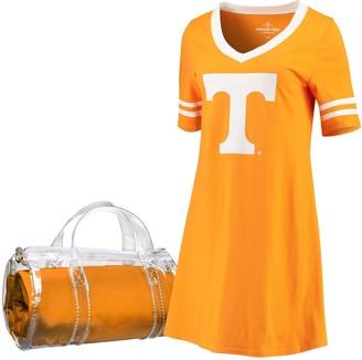 Women's Tennessee Orange Tennessee Volunteers Football Jersey Night Dress & Mini Duffel Bag Set