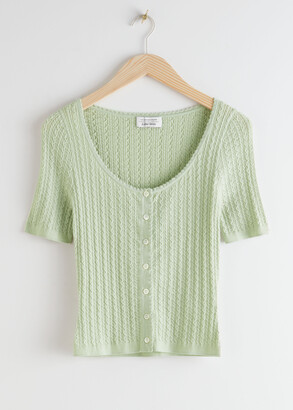 And other stories Fitted Knit Structure Top