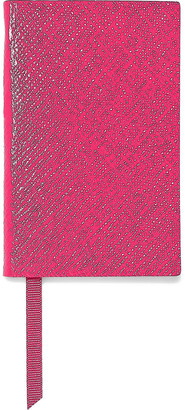 Smythson The Wafer Textured-leather Notebook