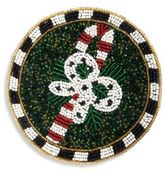 Mackenzie Childs MacKenzie-Childs Candy Cane Beaded Coaster