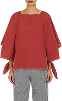 Chloé Women's Poplin Tied Sleeve Tunic