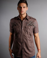 Roar Blackout Short Sleeve Tee in Brown