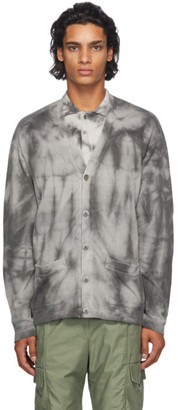 John Elliott Grey Tie-Dye Cardigan