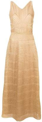 M Missoni patterned metallic dress