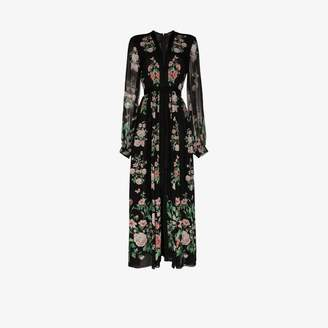 Giambattista Valli floral print silk maxi dress