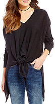 RD Style Deep V-Neck Long Sleeve Sweater