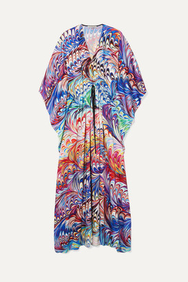 Mary Katrantzou Asso Printed Twill Kaftan - Purple