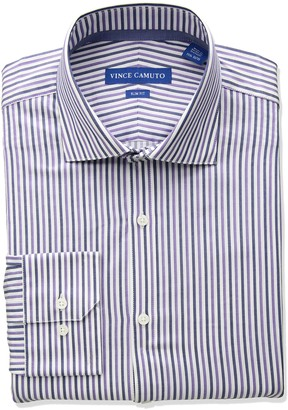 Vince Camuto Men's Slim Fit Stripe Dress Shirt