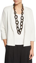 Eileen Fisher Silk Organic Cotton Interlock Boxy Jacket, Plus Size