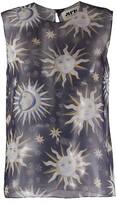 Thumbnail for your product : Maison Rabih Kayrouz Sun Print Lightweight Blouse