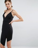 Daisy Street Dress With Asymmetric Hem