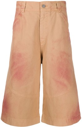 Jacquemus Spray-Paint-Effect Shorts