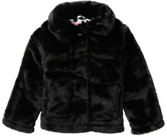 Urban Republic Faux Fur Snap-Up Coat (Little Girls)