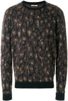 Nuur patterned crew neck sweater