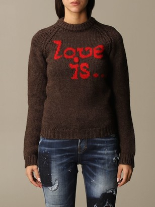 DSQUARED2 Sweater love Is Jacquard Crewneck
