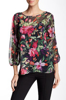 Sweet Pea Printed Bow Blouse