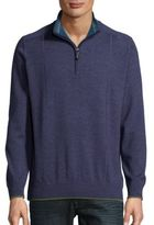 Robert Graham Popped Collar Wool Sweater