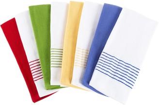 Lavish Home Set of 8 Vintage Stripe Cotton Kitchen Towels