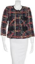 Smythe Leather-Trimmed Tweed Jacket