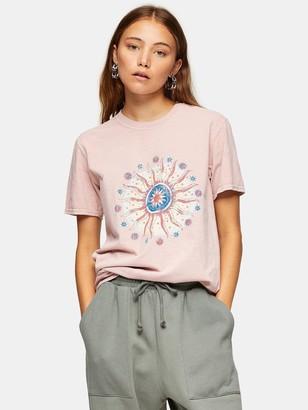 Topshop Earth Sun T-shirt - Pink