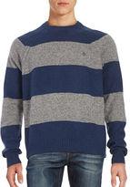 Original Penguin Wool Striped Crewneck Sweater