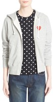 Comme des Garcons Women's 'Play' Cotton Zip Hoodie