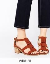 Asos TREASURE Wide Fit Heeled Sandals