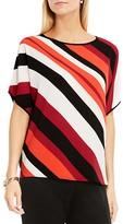 Vince Camuto Dolman Sleeve Asymmetric Stripe Top