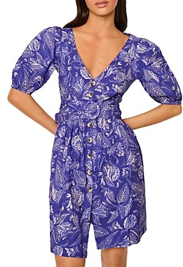 French Connection Besima Printed Belted Dress