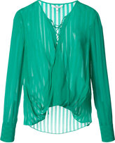 Derek Lam 10 Crosby lace-up neck blouse - women - Silk - 0