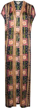 Temperley London Etoile-print silk kaftan