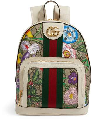 Gucci Small GG Flora Ophidia Backpack