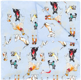Paul Smith dog print scarf