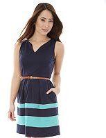 Juniors' IZ Byer California Striped Ponte Dress