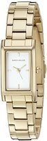 Karen Millen Women's Quartz Brass-Plated and Stainless Steel Dress Watch, Color:Gold-Toned (Model: KM114GM)