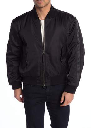 7 For All Mankind Military Back Pocket Strap Bomber Jacket
