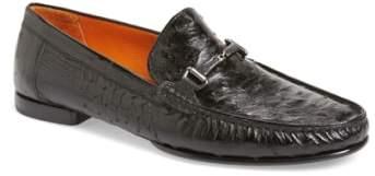 Mezlan 'Vittorio' Ostrich Leather Bit Loafer