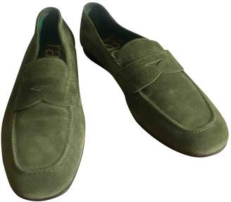 Fratelli Rossetti Green Suede Flats