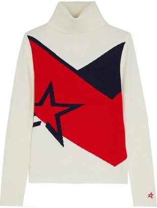 Perfect Moment Super Day Intarsia Merino Wool Turtleneck Sweater