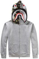S-7 CLJJ7 Men's Shark Printed Hooded Sweatshirt
